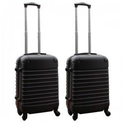 Travelerz kofferset 2 delige ABS handbagage koffers - met cijferslot - 39 liter - zwart