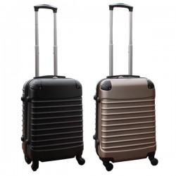 Travelerz kofferset 2 delige ABS handbagage koffers - met cijferslot - 39 liter - zwart - goud