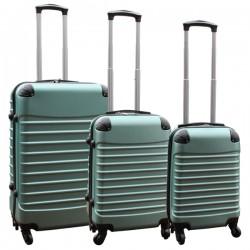 Travelerz kofferset 3 delig met wielen en cijferslot - handbagage koffers - ABS - groen