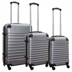 Travelerz kofferset 3 delig met wielen en cijferslot - handbagage koffers - ABS - zilver