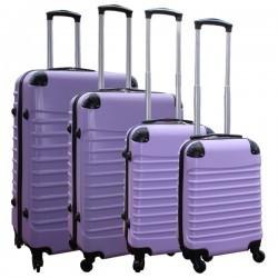 Travelerz kofferset 4 delig ABS - zwenkwielen - met cijferslot - lila