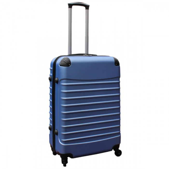 Travelerz kofferset 2 delige ABS groot - met cijferslot - reiskoffers 69 en 95 liter - licht blauw