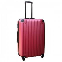 Travelerz lichtgewicht ABS reiskoffer met cijferslot roze 95 liter