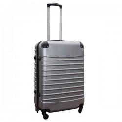 Travelerz lichtgewicht ABS reiskoffer met cijferslot zilver 69 liter licht beschadigd
