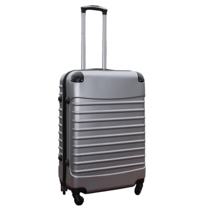 Travelerz kofferset 3 delig met wielen en cijferslot - ABS - zilver (228-)