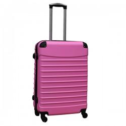 Travelerz reiskoffer met wielen 69 liter - lichtgewicht - cijferslot - licht roze