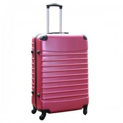 Travelerz reiskoffer met wielen 95 liter - lichtgewicht - cijferslot - roze