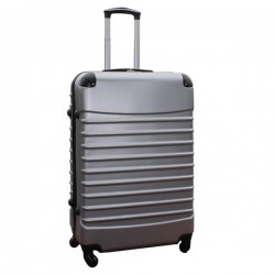 Travelerz reiskoffer met wielen 95 liter - lichtgewicht - cijferslot - zilver