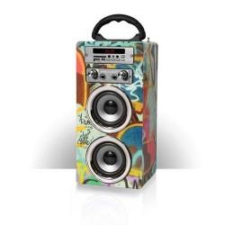 Pure Acoustics MCP-20 GRA Portable karaoke systeem met bluetooth  USB  SD en FM radio