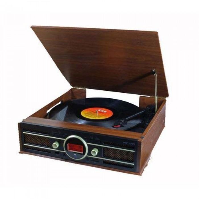 Soundmaster PL585BR Platenspeler met DAB+  FM Radio  USB en encoding functie