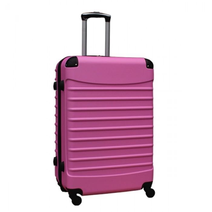 Travelerz reiskoffer met wielen 95 liter - lichtgewicht - cijferslot - licht roze