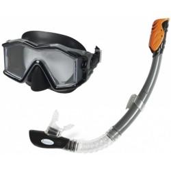 Snorkelset Explorer Pro Swim set junior zwart 2-delig