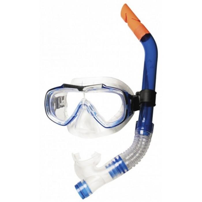 snorkelset Aquarius junior 40 cm blauw