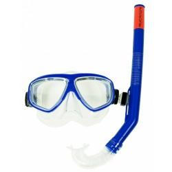 snorkelset Ray junior 33 cm PVC blauw