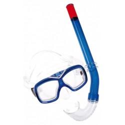 snorkelset Comfort junior polycarbonaat blauw 2-delig