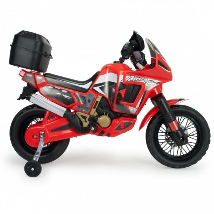 Injusa accuvoertuig motorbike Honda Africa 6V 100 cm rood