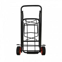 inklapbare bagagetrolley staal zwart 30 kg