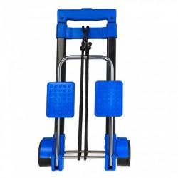 inklapbare bagagetrolley staal zwart/blauw 30 kg