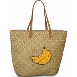 shopper Bananas dames 41 liter riet lichtbruin