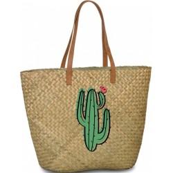 shopper Cactus dames 41 liter riet lichtbruin