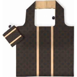 shopper 48 cm polyester bruin