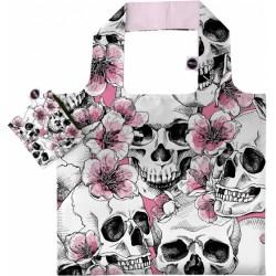 shopper 48 cm polyester wit/roze