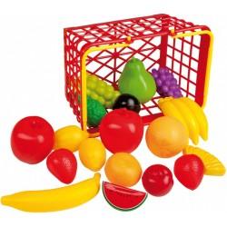 Happy People winkelmandje Fruit junior 23 cm 20-delig