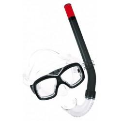 snorkelset Comfort junior PVC zwart 2-delig