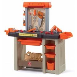 Abbey werkbank Handyman 90 cm oranje 31-delig