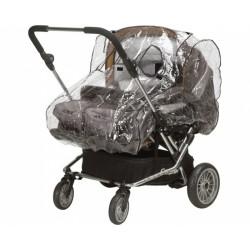Playshoes universele regenhoes tweelingenwagen baby transparant
