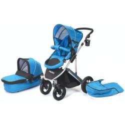 combi-kinderwagen Daily Transporter en reiswieg blauw