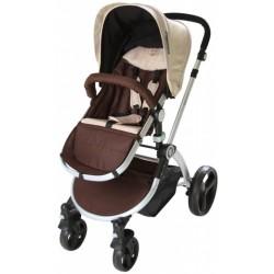 Infantastic kinderwagen Brownie 2-in-1 inclusief reiswieg bruin