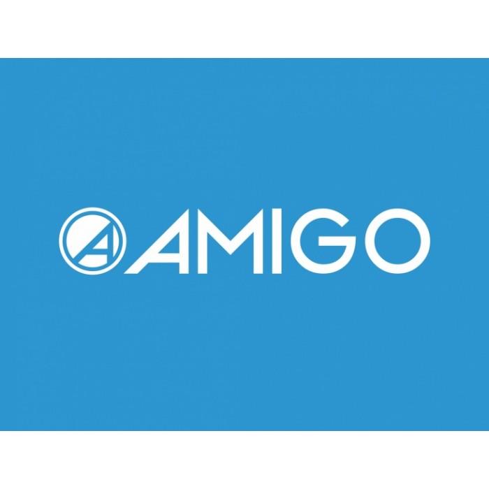 AMIGO Surfer 3-wiel kinderstep Junior Voetrem Zwart/Blauw