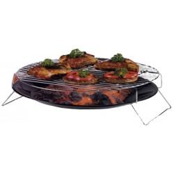 barbecue grillschaal 36 cm chroom zwart