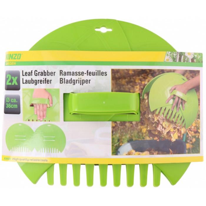 bladgrijper 36 x 31 cm groen 2 stuks