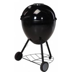 Vaggan barbecue op wielen 57 cm RVS/chroom zwart