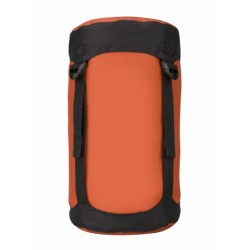 compressiezak nylon 10 liter oranje/zwart