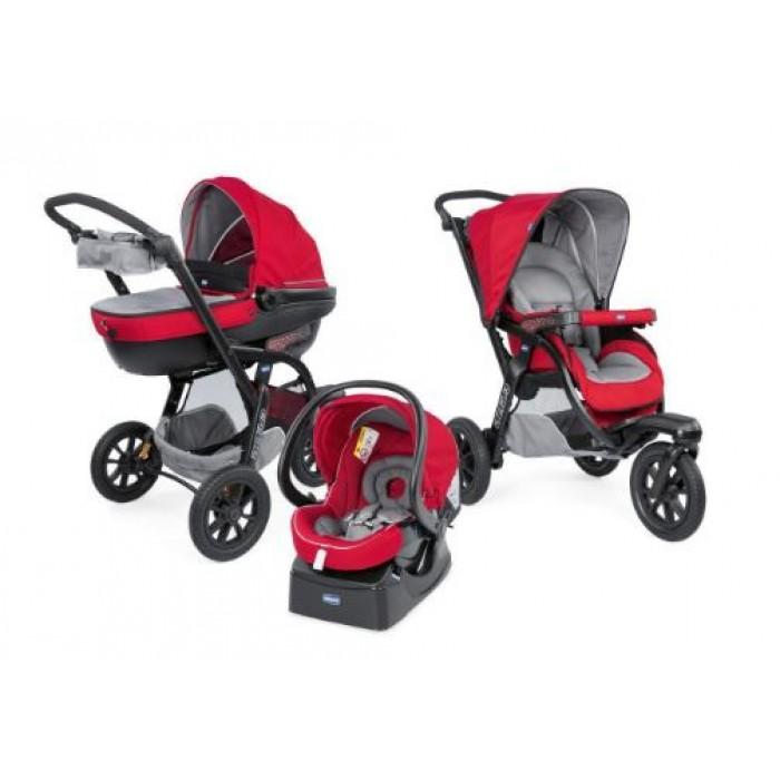 Chicco kinderwagen 3-in-1 Activ3 Top polyester rood/grijs