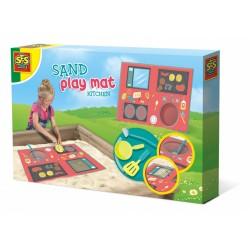 zand-speelmat keuken junior kunststof textiel 4-delig