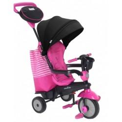 4-in-1-driewieler Swing DLX Meisjes Roze/Zwart