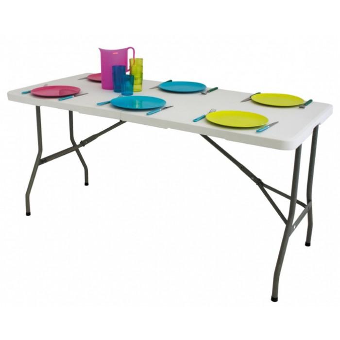 Eurotrail campingtafel Pavillon M 180 x 75 cm staal wit
