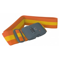 kofferriem TSA cijferslot 190 cm polyester oranje