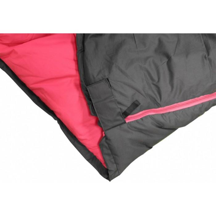slaapzak Dolphin junior katoen/polyester zwart/fuchsia