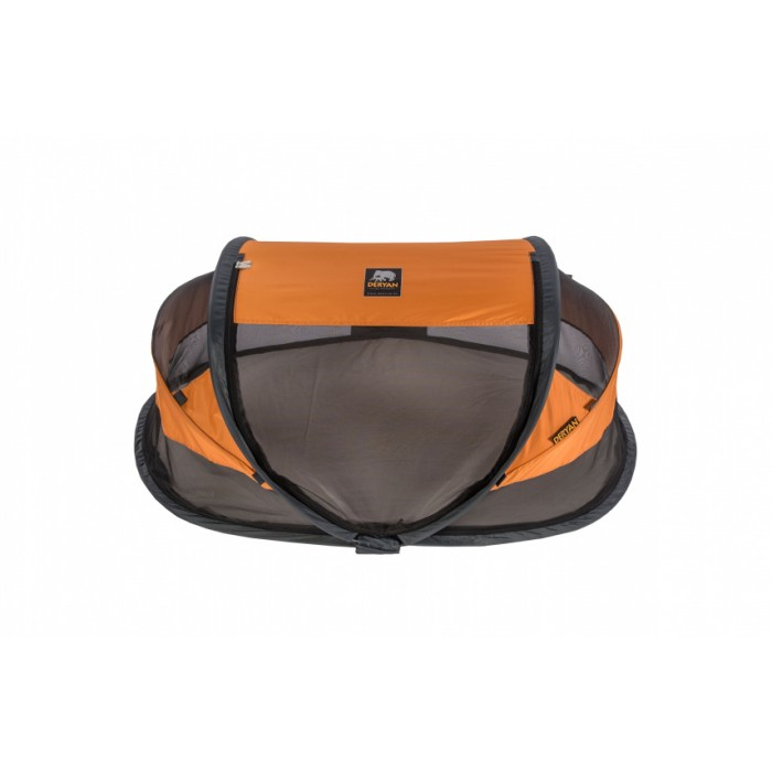 Deryan reisbed Baby Luxe 2021 120 cm polyester oranje