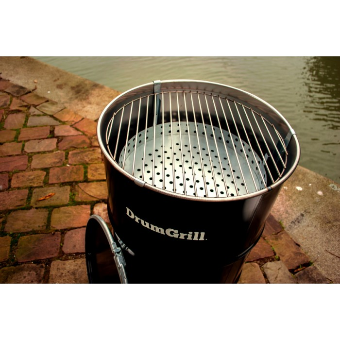 DrumGrill barbecue Medium 46 x 82 cm staal zwart 4-delig