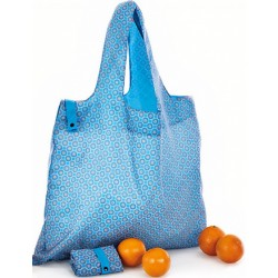 shopper Fashionista 50 x 42 cm polyester blauw