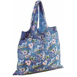 shopper 50 x 20 cm polyester blauw/roze