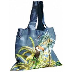 shopper Toekan 50 x 42 cm polyester blauw/groen