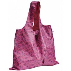 boodschappentas XL paisley 59 x 48 cm polyester roze