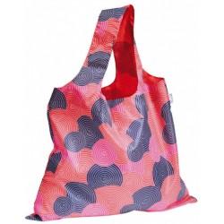 boodschappentas XL cirkel 59 x 48 cm polyester roze/blauw